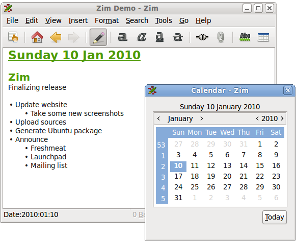 WatFile.com Download Free Showing the calendar dialog